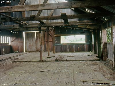 16th Sept 1972. Inside the old wagon works at ESR before it blew down some weeks later.