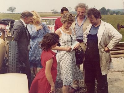 Me (John Rees) getting an autograph from charming actress , the late Dinah Sheridan when she visited Cranmore. Also featured is David Shepherd.