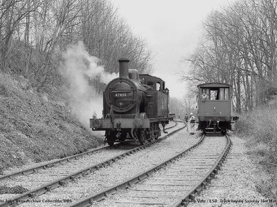 Sun 31st March 1985. Mendip Vale track laying