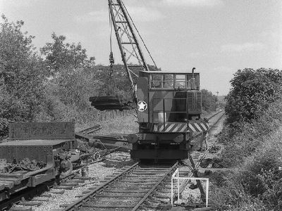 Point removal at Merryfield Lane Halt 23rd July 1985