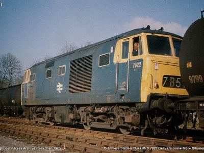 Cranmore Station Class 35 D7022 delivers some more bitumen 1973