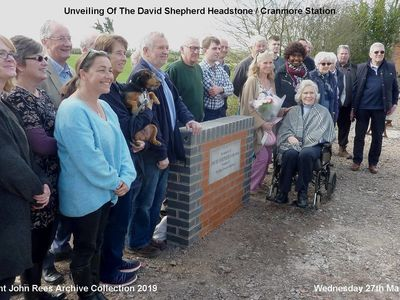 27th March 2019. A special day for all of us at Cranmore when Avril, the wife of the late David Shepherd, performed the unveiling of a plaque in his memory.
