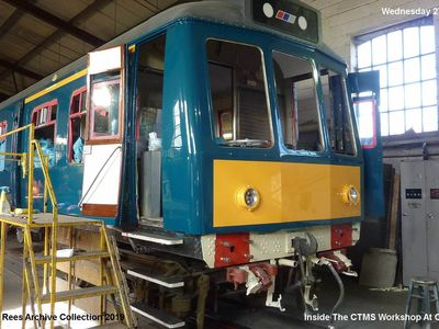 27th March 2019. Inside the workshop of CTMS. 108 coach 54271 receiving a general overhaul.