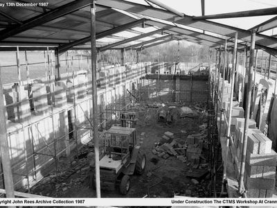 Saturday December 13th 1987. CTMS workshop under construction.