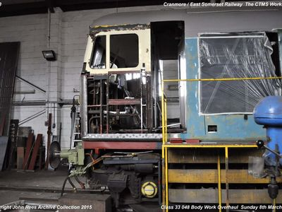 8th March 2015. CTMS workshop. Class 33 048 Body work overhaul