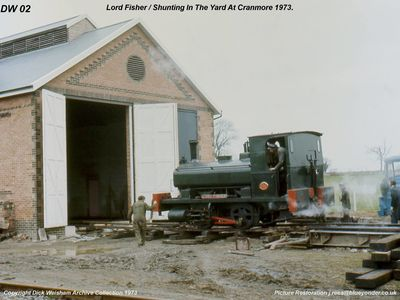1973. Lord Fisher shunting in the yard.