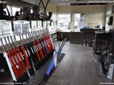 Wednesday March 13th 2013. The restored signal box.