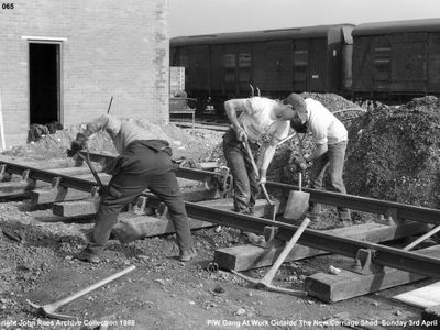 Carriage  Shed  Track  Laying   Sunday   3 rd  April  1988.JPG