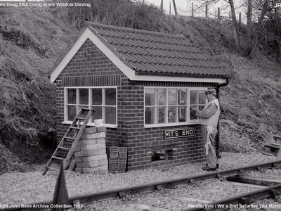 The late Doug Ellis doing some window glazing - Mendip Vale Saturday March 2nd 1985