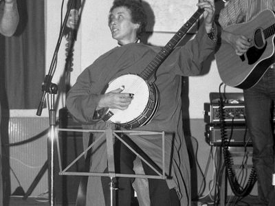 Cranmore Village Hall and an evening of songs and laughter with Kath Chard ........... what a trooper.  Picture taken Saturday 30th October 1987.