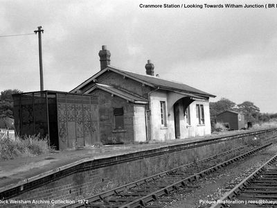 1972. Cranmore Staion looking towards Witham Junction