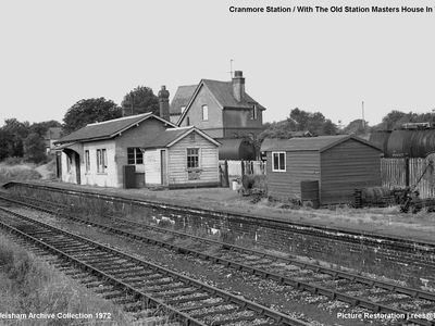 1972. Old Station with Station Masters House in background.