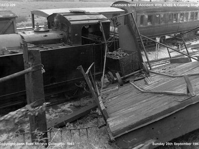 Accident with 47493 and coaling stage 25th Sept 1983
