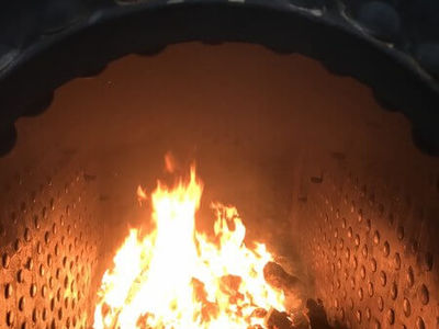 The first fire in the firebox