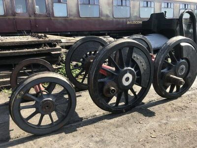 The wheels returned from the South Devon Railway.