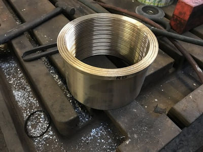 A coupling rod bearing fresh off the lathe