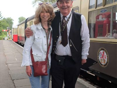 Kerry Haine Station Master and Helen Worth