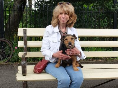 Barney the Station Dog and Helen Worth