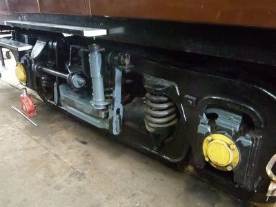 the refitted and serviced bogie with final painting in progresses