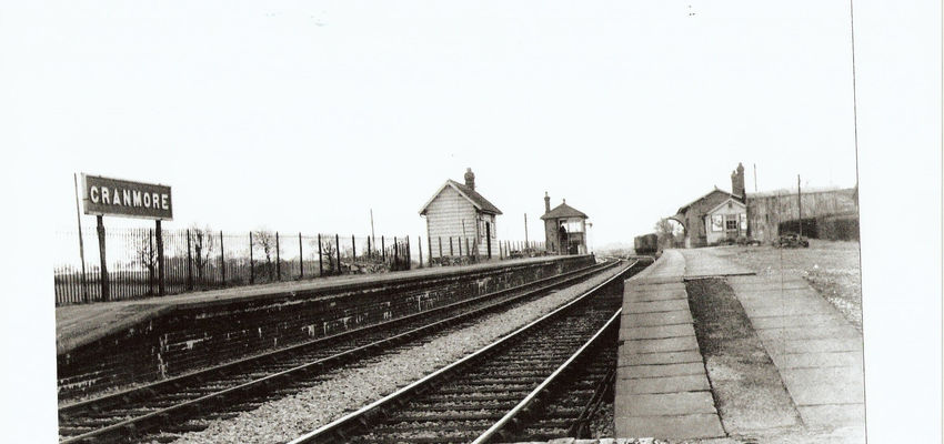 A picture showing the second platform back in the 1950's.
