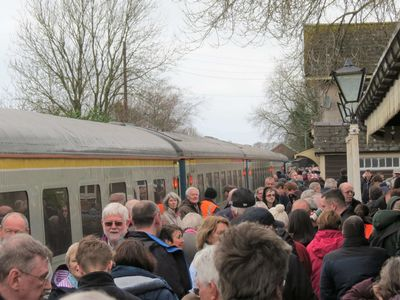 The station was packed!